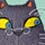 猫の事務所 水彩・パステル 2013