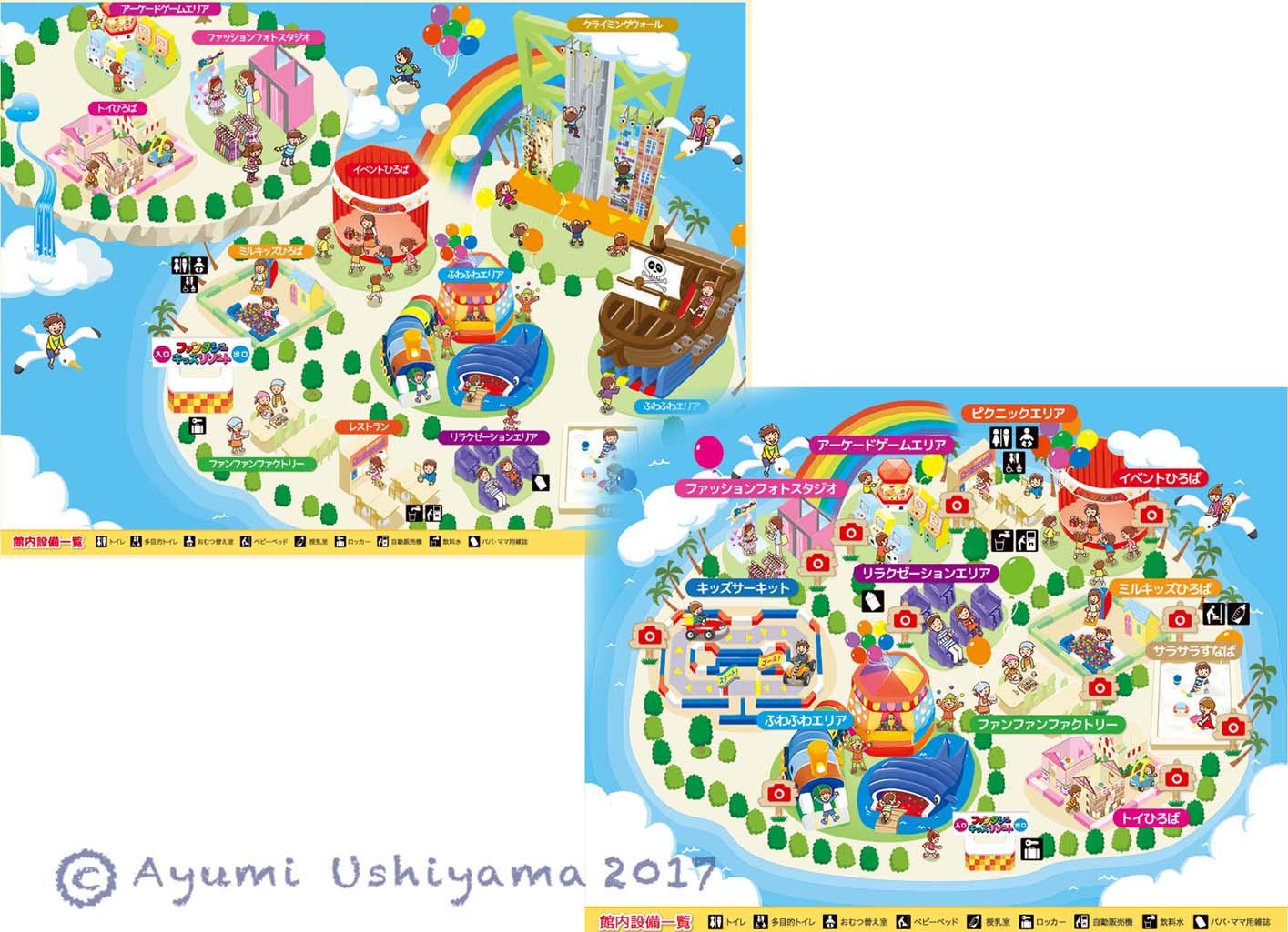 フロアマップ/ファンタジーキッズリゾート 2017