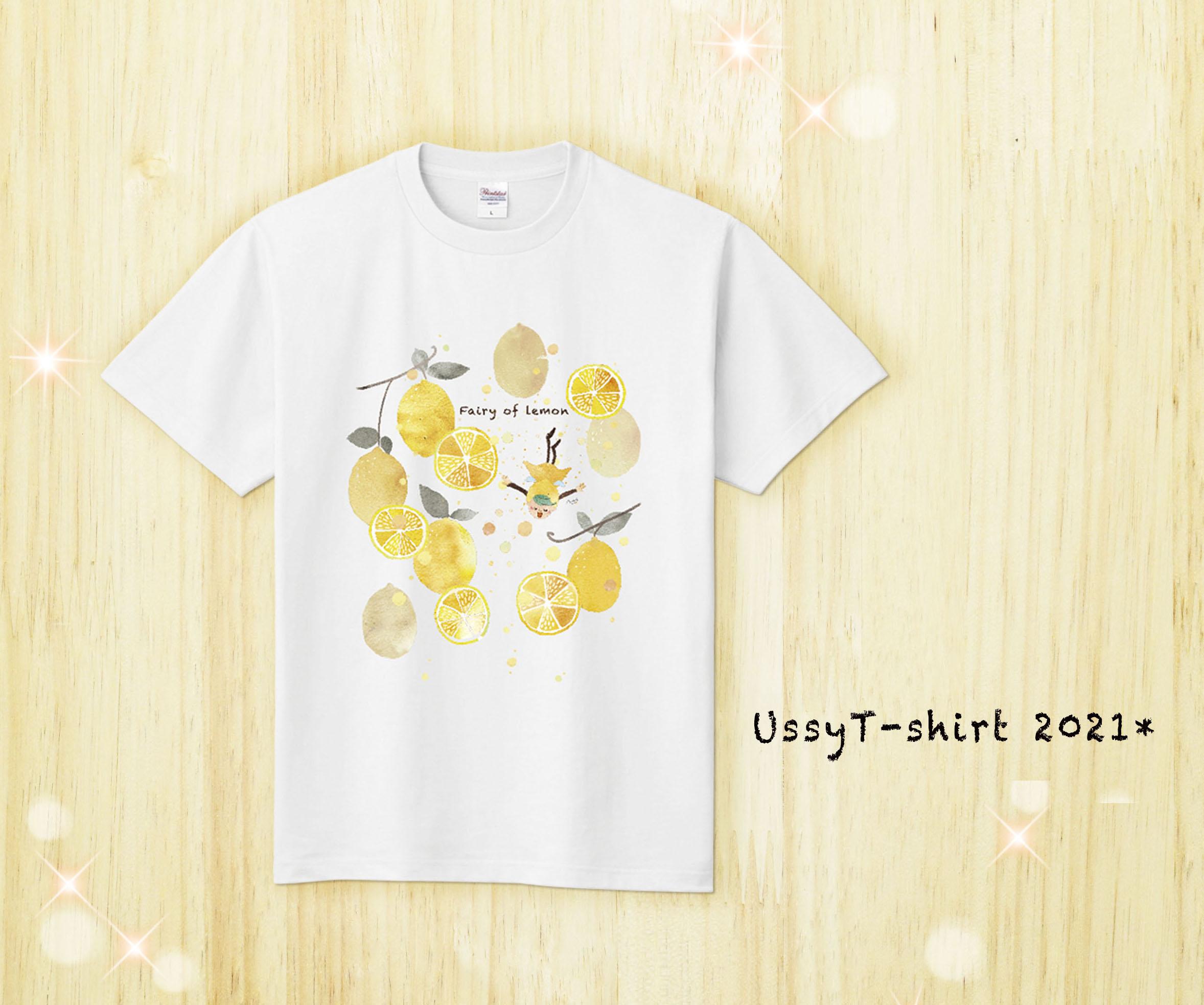 Tシャツ/レモン(白)