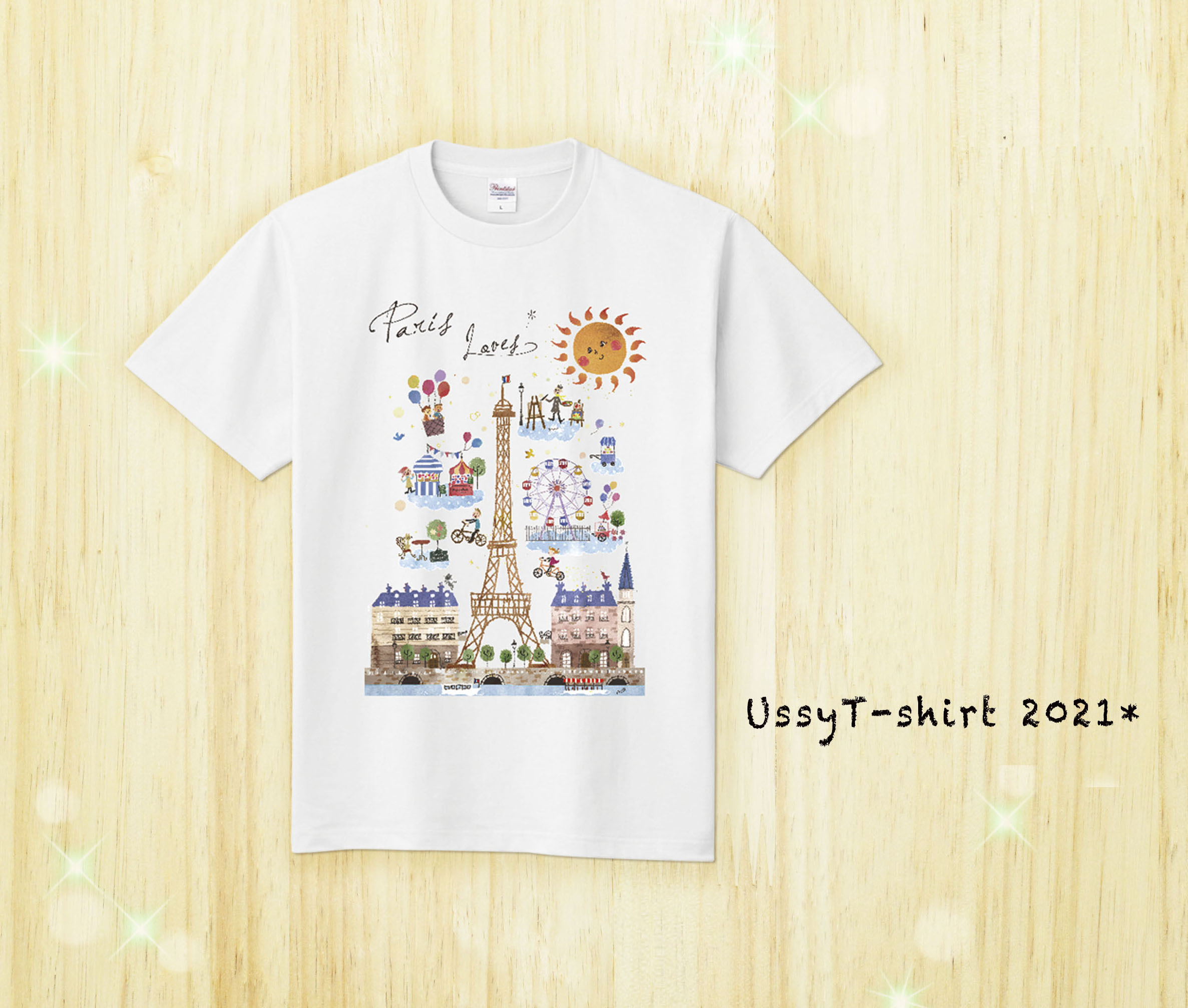 Tシャツ/パリ(白)